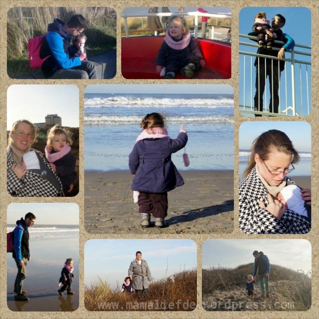 Uitwaaien op het strand Kijkduin - mamaliefde
