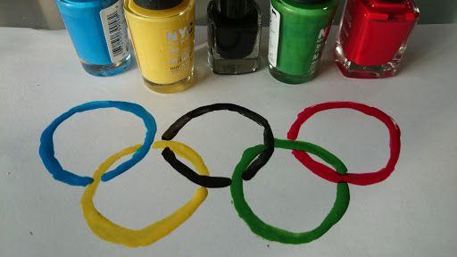 Olympische Spelen: creatief met nagellak - mamaliefde