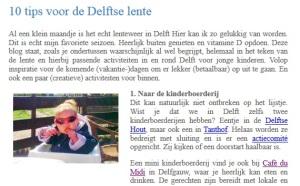 Blog: 10 tips voor de Delftse lente - Mama cafe Delft