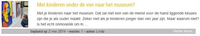 Gastblog: Met kinderen onder de vier jaar naar het museum - mamaliefde