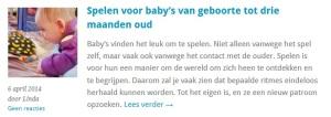 Gastblog: spel voor een baby van 0 / 3 maanden - mamaliefde