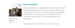Gastblog: Even voorstellen - All for baby