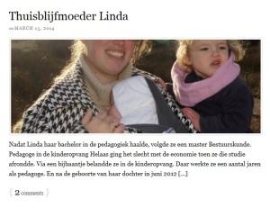 Interview: Thuisblijfmoeder Linda - Het moederfront