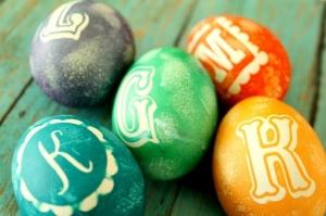 Pasen: Monogram eieren - mamaliefde